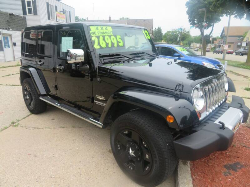 2013 Jeep Wrangler Unlimited for sale at Uno's Auto Sales in Milwaukee WI