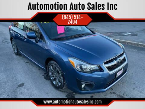 2013 Subaru Impreza for sale at Automotion Auto Sales Inc in Kingston NY
