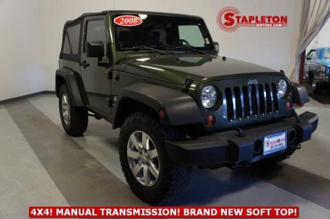 2008 Jeep Wrangler for sale at STAPLETON MOTORS in Commerce City CO