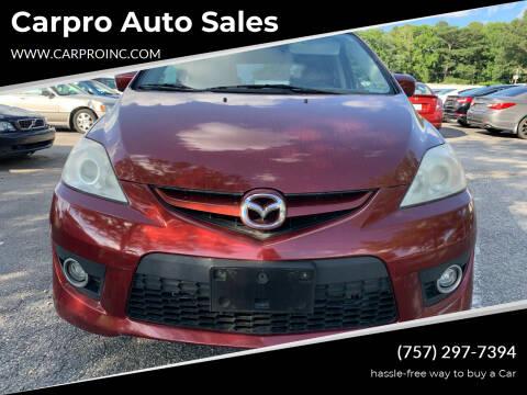 2010 Mazda MAZDA5 for sale at Carpro Auto Sales in Chesapeake VA