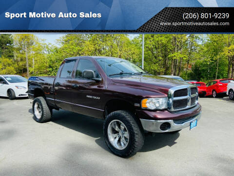 2004 Dodge Ram Pickup 1500 for sale at Sport Motive Auto Sales in Seattle WA