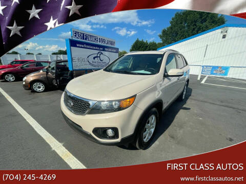 2011 Kia Sorento for sale at First Class Autos in Maiden NC