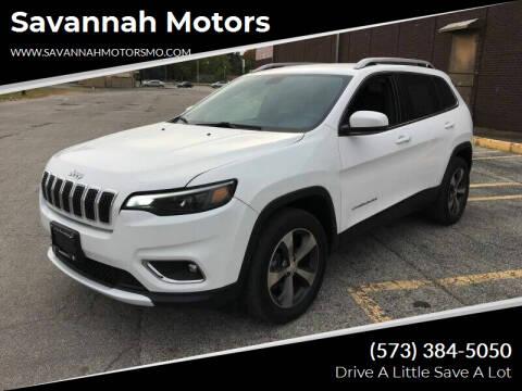 2019 Jeep Cherokee for sale at Savannah Motors in Elsberry MO