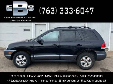 2005 Hyundai Santa Fe for sale at East Bradford Sales, Inc in Cambridge MN