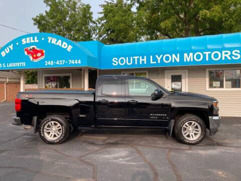 2018 Chevrolet Silverado 1500 for sale at South Lyon Motors INC in South Lyon MI