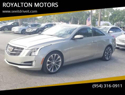 2015 Cadillac ATS for sale at ROYALTON MOTORS in Plantation FL
