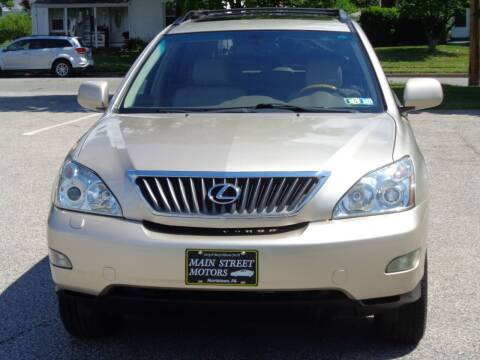 2008 Lexus RX 350 for sale at MAIN STREET MOTORS in Norristown PA