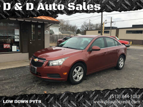 2013 Chevrolet Cruze for sale at D & D Auto Sales in Hamilton OH