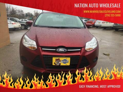 2013 Ford Focus for sale at Nation Auto Wholesale in Cleveland OH