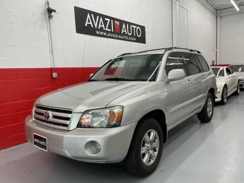 2006 Toyota Highlander for sale at AVAZI AUTO GROUP LLC in Gaithersburg MD