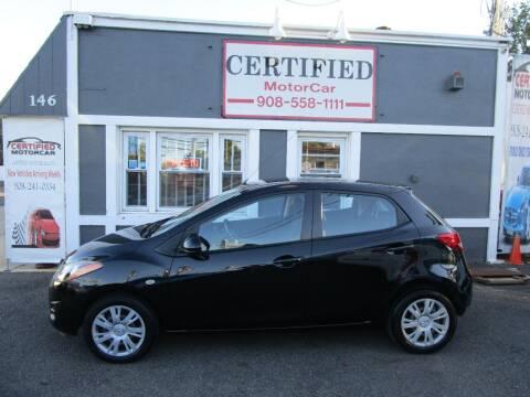 2014 Mazda MAZDA2 for sale at CERTIFIED MOTORCAR LLC in Roselle Park NJ