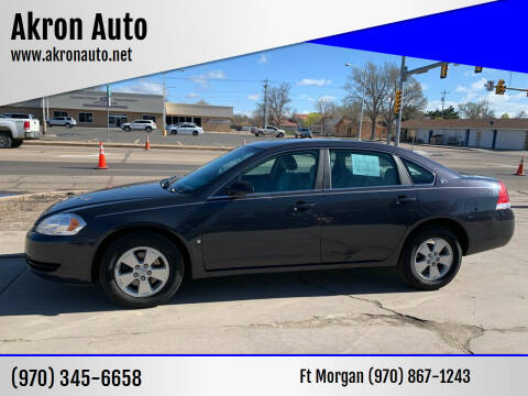 2008 Chevrolet Impala for sale at Akron Auto - Fort Morgan in Fort Morgan CO