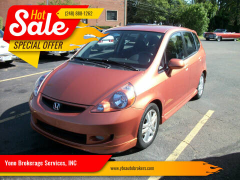 2008 Honda Fit for sale at Yono Brokerage Services, INC in Farmington MI