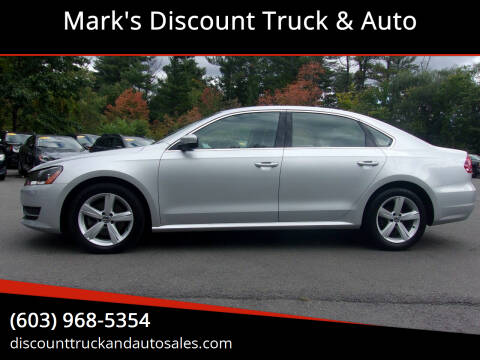 2012 Volkswagen Passat for sale at Mark's Discount Truck & Auto in Londonderry NH