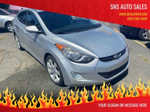 2012 Hyundai Elantra for sale at SNS AUTO SALES in Seattle WA