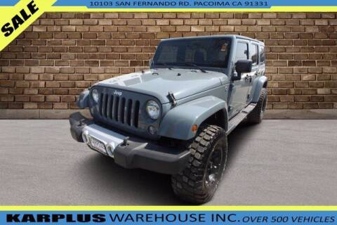 2015 Jeep Wrangler Unlimited for sale at Karplus Warehouse in Pacoima CA