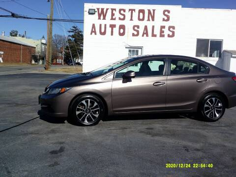 2013 Honda Civic for sale at Weston's Auto Sales, Inc in Crewe VA