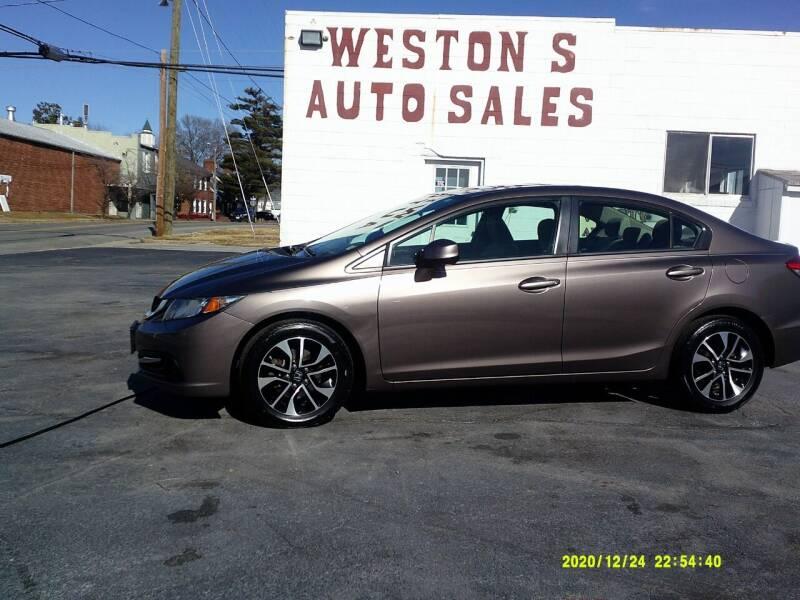 2013 Honda Civic for sale at Weston's Auto Sales, Inc in Crewe VA