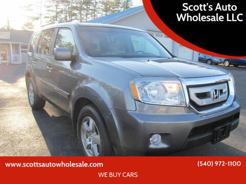 2011 Honda Pilot for sale at Scott's Auto Wholesale LLC in Locust Grove VA