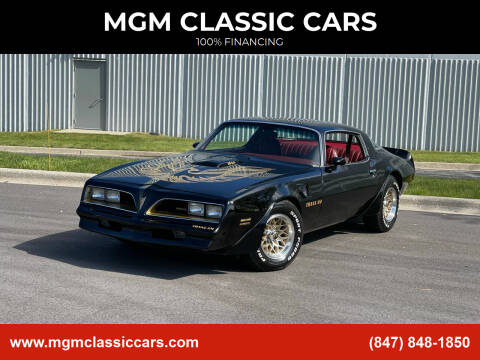 1978 Pontiac Trans Am for sale at MGM CLASSIC CARS in Addison IL