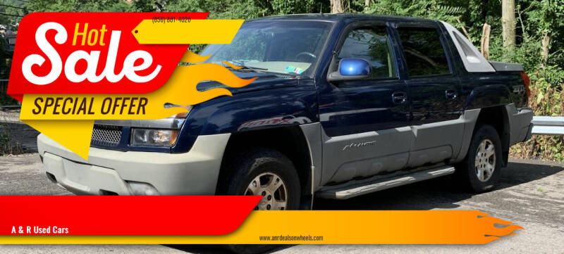 2002 Chevrolet Avalanche for sale at A & R Used Cars in Clayton NJ