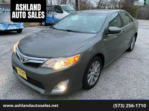 2012 Toyota Camry for sale at ASHLAND AUTO SALES in Columbia MO