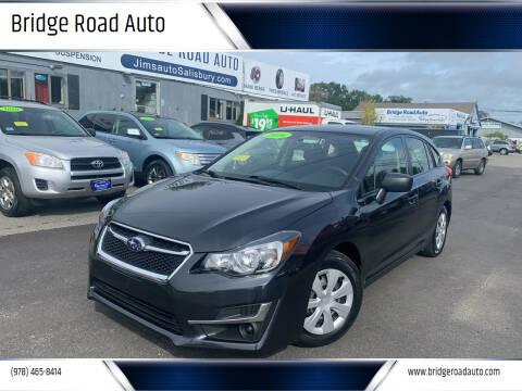 2016 Subaru Impreza for sale at Bridge Road Auto in Salisbury MA