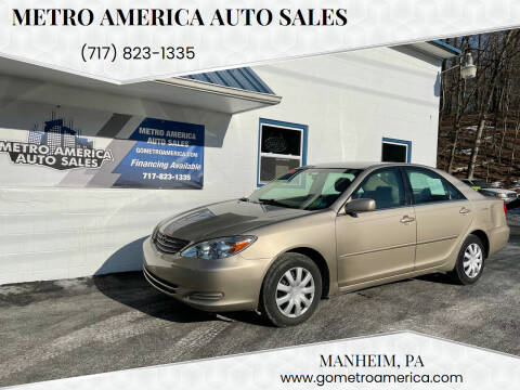 2004 Toyota Camry for sale at METRO AMERICA AUTO SALES of Manheim in Manheim PA