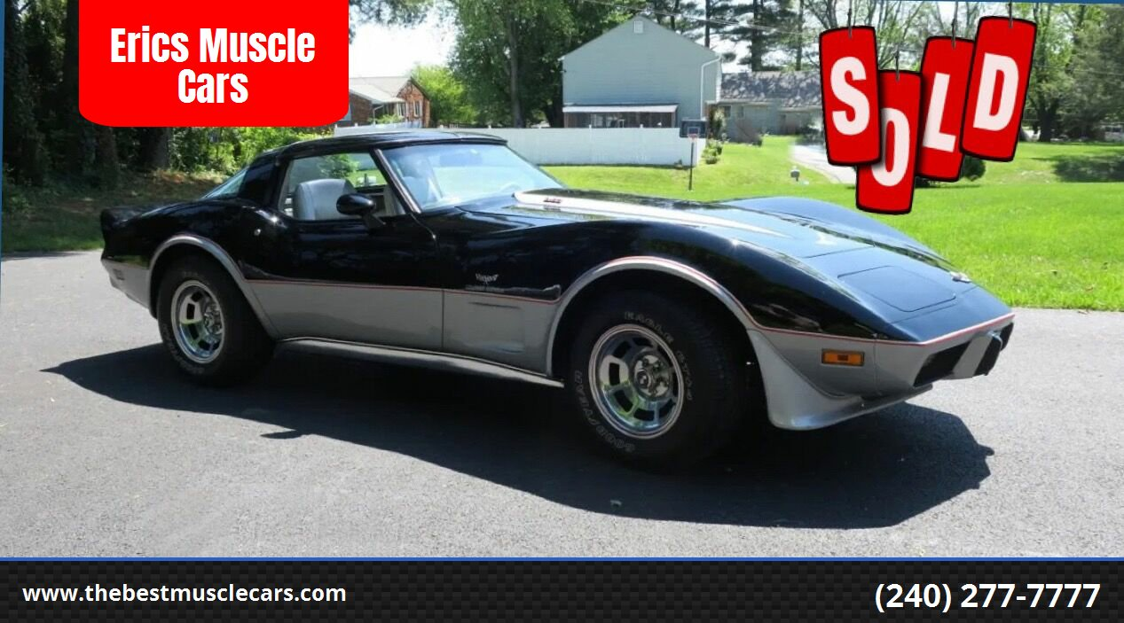 1978 Chevrolet Corvette Pace Car  SOLD SOLD SOLD