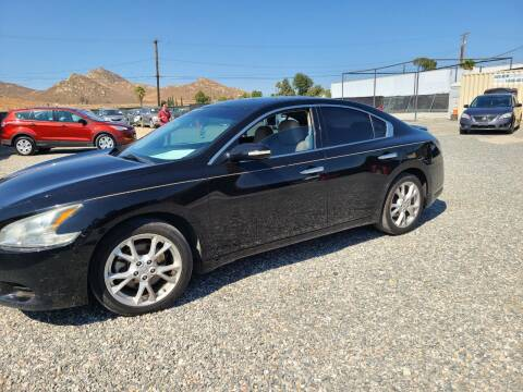 2012 Nissan Maxima for sale at E and M Auto Sales in Bloomington CA