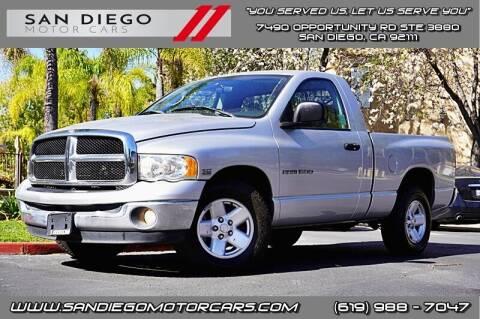 2003 Dodge Ram Pickup 1500 for sale at San Diego Motor Cars LLC in San Diego CA