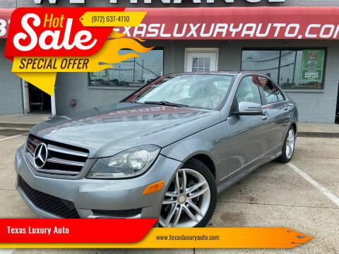 2014 Mercedes-Benz C-Class for sale at Texas Luxury Auto in Cedar Hill TX
