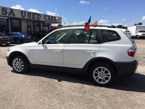 2004 BMW X3 for sale at BSA Used Cars in Pasadena TX