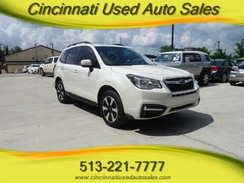 2018 Subaru Forester for sale at Cincinnati Used Auto Sales in Cincinnati OH