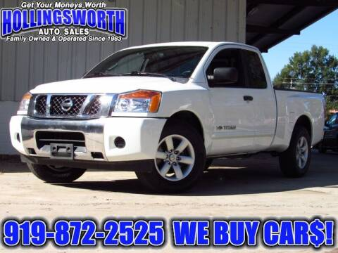 2013 Nissan Titan for sale at Hollingsworth Auto Sales in Raleigh NC