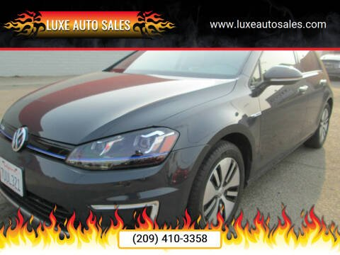 2015 Volkswagen e-Golf for sale at Luxe Auto Sales - Clean Air Qualified Vehicles in Modesto CA