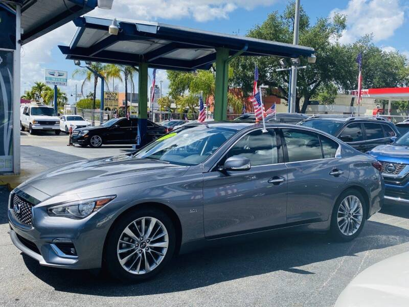 2019 Infiniti Q50 for sale at CHASE MOTOR in Miami FL