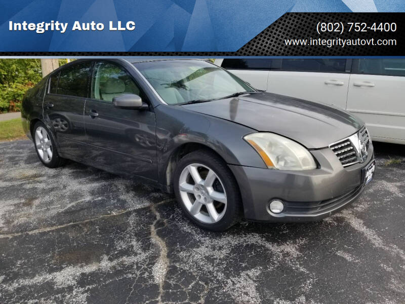 2005 Nissan Maxima for sale at Integrity Auto LLC - Integrity Auto 2.0 in St. Albans VT