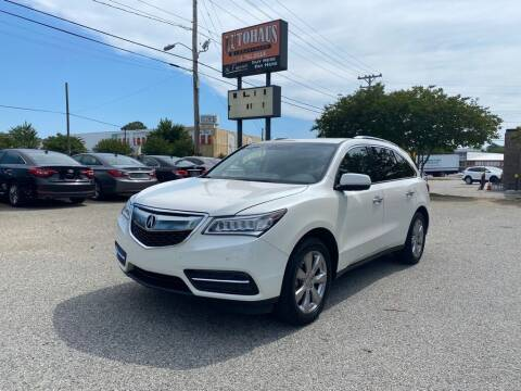 2014 Acura MDX for sale at Autohaus of Greensboro in Greensboro NC