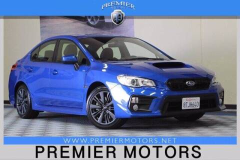 2020 Subaru WRX for sale at Premier Motors in Hayward CA