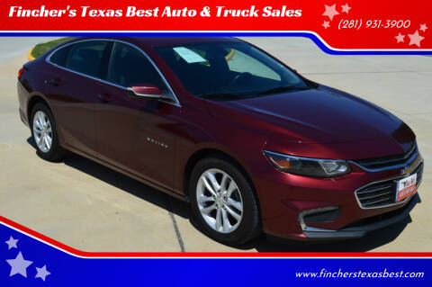 2016 Chevrolet Malibu for sale at Fincher's Texas Best Auto & Truck Sales in Tomball TX