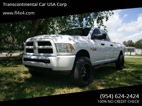 2013 RAM Ram Pickup 2500 for sale at Transcontinental Car USA Corp in Fort Lauderdale FL