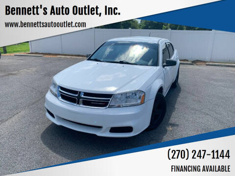 2013 Dodge Avenger for sale at Bennett's Auto Outlet, Inc. in Mayfield KY