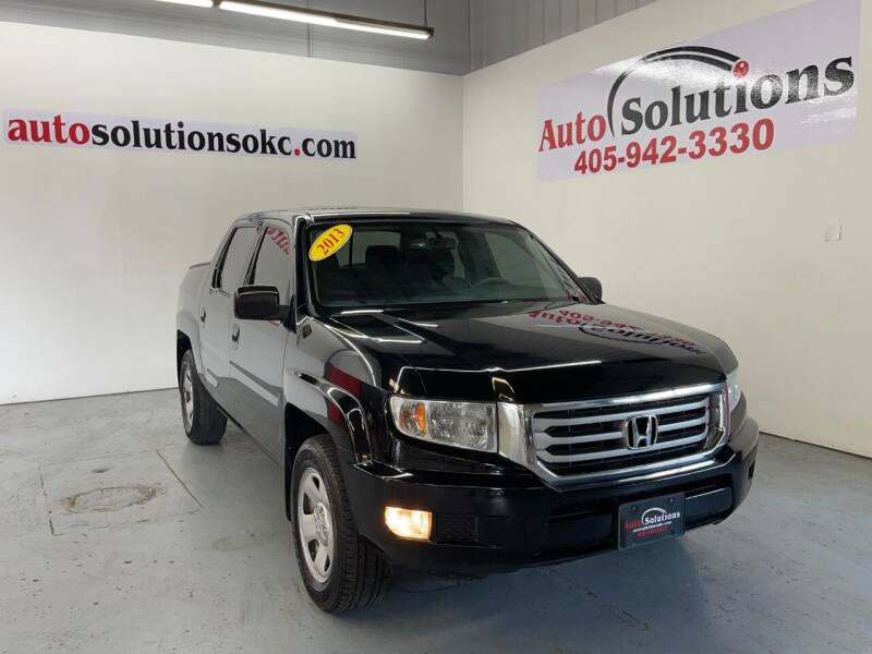 2013 Honda Ridgeline for sale at Auto Solutions in Warr Acres OK