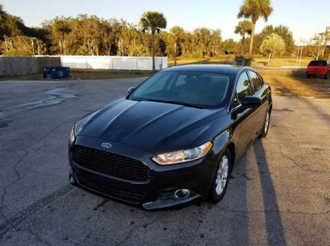 2015 Ford Fusion for sale at GOLDEN GATE AUTOMOTIVE,LLC in Zephyrhills FL