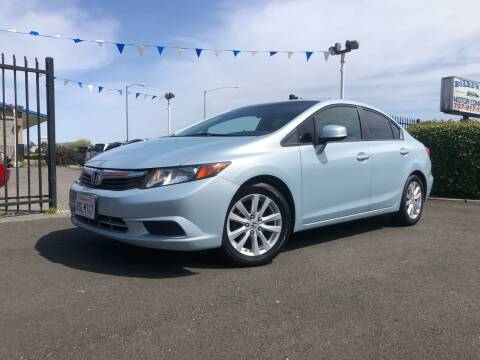2012 Honda Civic for sale at BOARDWALK MOTOR COMPANY in Fairfield CA