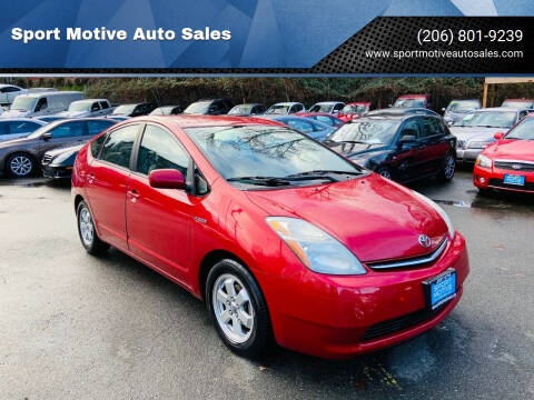 2008 Toyota Prius for sale at Sport Motive Auto Sales in Seattle WA