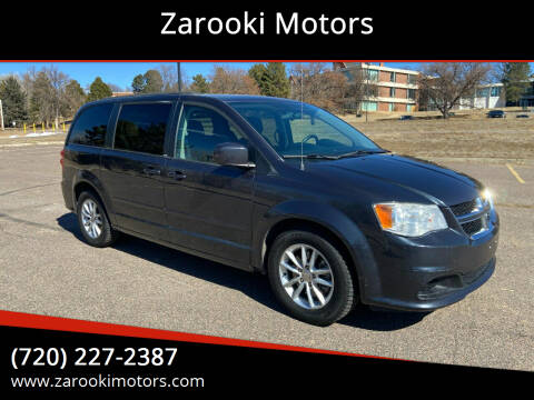 2014 Dodge Grand Caravan for sale at Zarooki Motors in Englewood CO