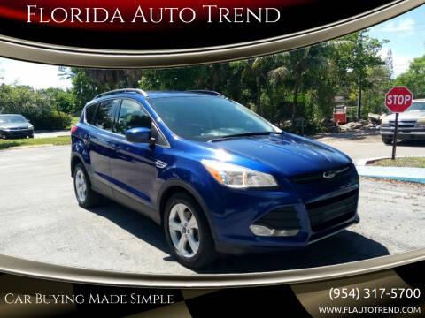 2015 Ford Escape for sale at Florida Auto Trend in Plantation FL
