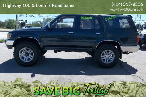 1995 Toyota 4Runner for sale at Highway 100 & Loomis Road Sales in Franklin WI